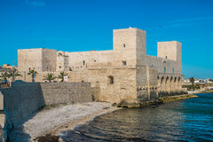 Castle σε Trani, Ιταλία Στοκ εικόνα με δικαίωμα ελεύθερης χρήσης