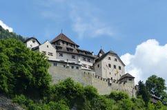 Castle σε Vaduz, Λιχτενστάιν Στοκ φωτογραφία με δικαίωμα ελεύθερης χρήσης