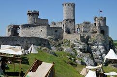 Castle στην Πολωνία (Ogrodzieniec) Στοκ εικόνα με δικαίωμα ελεύθερης χρήσης