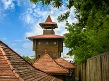 Castle στην πόλη Mozyr belatedness στοκ φωτογραφίες