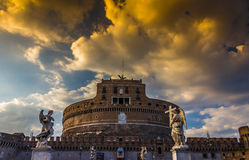 Castle στη Ρώμη - Sant Angelo Castle στη Ρώμη Στοκ εικόνα με δικαίωμα ελεύθερης χρήσης