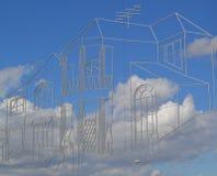 Castle στον ουρανό Στοκ φωτογραφίες με δικαίωμα ελεύθερης χρήσης