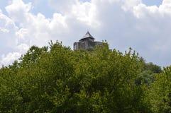 Castle στο δάσος στοκ εικόνες