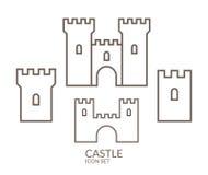 Castle Σύνολο εικονιδίων περίγραμμα