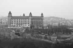 Castle της Μπρατισλάβα, Σλοβακία, Ευρώπη Στοκ εικόνες με δικαίωμα ελεύθερης χρήσης