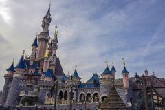 Castle της ομορφιάς ύπνου, σε Disneyland Παρίσι Στοκ εικόνα με δικαίωμα ελεύθερης χρήσης