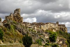 Castle της πόλης Frias Burgos, Ισπανία Στοκ Φωτογραφία
