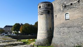 Castle της Angers, Γαλλία απόθεμα βίντεο