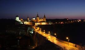 Castle τη νύχτα στοκ εικόνα με δικαίωμα ελεύθερης χρήσης