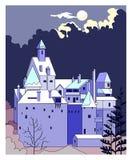 Castle τη νύχτα Στοκ φωτογραφία με δικαίωμα ελεύθερης χρήσης