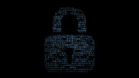 Castle του δεκαεξαδικού κώδικα η τρισδιάστατη έννοια που απομονώνεται δίνει το λευκό ασφάλειας Στοκ φωτογραφίες με δικαίωμα ελεύθερης χρήσης