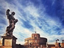 Castle του ιερού αγγέλου, Ρώμη στοκ φωτογραφία με δικαίωμα ελεύθερης χρήσης