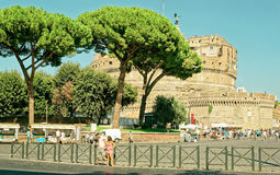 Castle του ιερού αγγέλου στη Ρώμη της Ιταλίας Στοκ φωτογραφίες με δικαίωμα ελεύθερης χρήσης