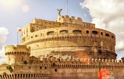Castle του ιερού αγγέλου (Castel Sant ` Angelo) στη Ρώμη Στοκ φωτογραφίες με δικαίωμα ελεύθερης χρήσης