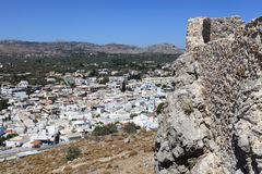 Castle του χωριού Άγιος John και Archangelos στοκ φωτογραφία με δικαίωμα ελεύθερης χρήσης