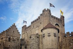 Castle των αριθμήσεων στη Γάνδη στο Βέλγιο στοκ εικόνα με δικαίωμα ελεύθερης χρήσης