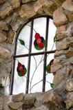 Castle主教污点玻璃窗 库存图片