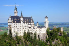 Castle 1. Bavarias King Ludwig Neuchwanstein castle Royalty Free Stock Image