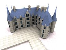 Castle. 3d model Stock Photography