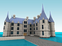 Castle. 3d model Royalty Free Stock Photography
