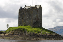 Castle. View of castle Stalker in Scotland on a bright summers day stock photography