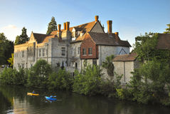 Castle. The Archbishops Palace from the bridge over the Medway, Maidstone, Kent Royalty Free Stock Photography