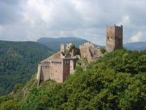 Castle. On a peak Stock Photos