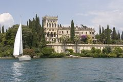Castle. Castel at the garda lake, Italy Royalty Free Stock Photo