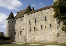Castle. View of the Nemours medieval castle in France Royalty Free Stock Image