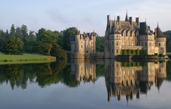 Castle. With ditch, mirror, water Stock Photos