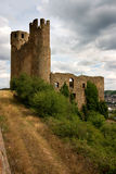 Castle. Ehrenfels Castle Germany above the rhine river royalty free stock photography