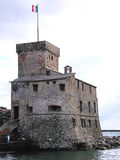 Castle. A medieval castle in italian riviera Stock Photos