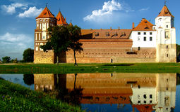 Castle. In town Mir of Belarus Royalty Free Stock Photos