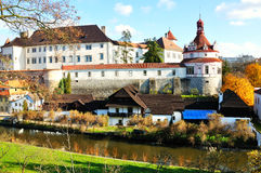 Castle. And Chateau Jindrichuv Hradec in the South Bohemian stock photography