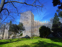 Castle. Medieval castle located in the city of Guimarães Portugal Stock Photography