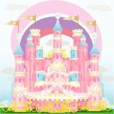 Castle. Illustration of pink princess castle stock illustration