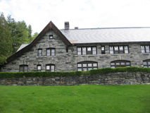The Castle. Built in Vermont at the turn of the last century in the English home style. European workers worked 5 years to create this Architectural home for Stock Photos
