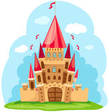 Castle. Illustration of cartoon fairy tale castle