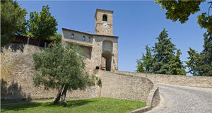 Castle. Of Montegridolfo, Emilia Romagna, Italy Stock Photos
