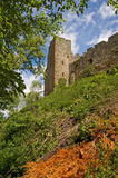 Castle. Under the Ludlow Castle in Shropshire stock images