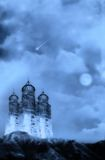 Castle. Fantasy background for your artistic creations Stock Images