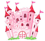 Castle. Illustration of a pink princess castle
