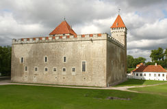 Castle. Kuressaare Episcopal Castle on the Saaremaa island, Estonia. Among the medieval castles in the Baltic countries this is the one that has survived best Royalty Free Stock Images