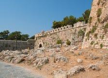 Castle. A big castle in Rethymnon on Crete Stock Photos
