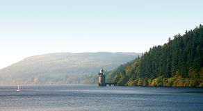 Castle. In lake in wales, united kingdom Stock Image