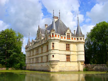 Castle. Azay le Rideau Chateau in the Loire Valley, France Stock Photography