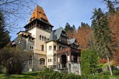 Castle. Pelisor Castle from Sinaia town, (Europe) Romania Royalty Free Stock Image