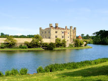 Castle. Leeds Castle and moat, England Stock Images