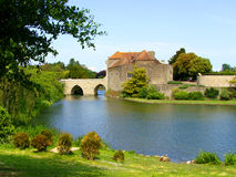 Castle. View of Leeds Castle and moat, England Stock Images