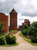 Castle. Tower Bergfried and ruins of Turaida medieval Castle, Latvia, Europe Stock Photos